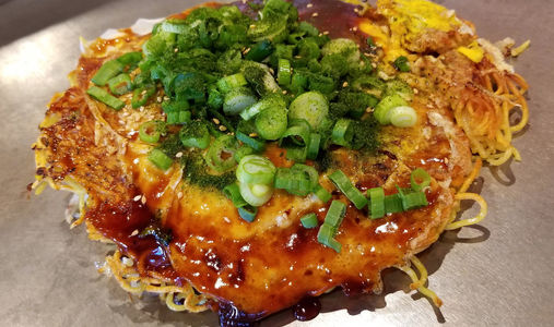 How to make best easy hiroshima  okonomiyaki savory japanese pancakes mix recipe ingredients sauce flour restaurants near me